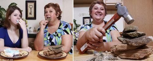 Wanita Ini Selalu Makan Batu Bila Merasa Sedih [ www.BlogApaAja.com ]