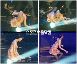 Berita Artis Korea :  IU Jatuh di Panggung '2011 Melon Music Awards'