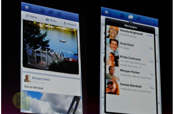 Facebook di Blackberry 10