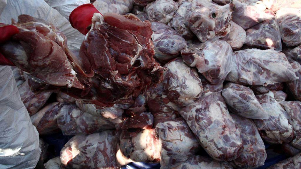 Polisi Amankan Truk Muatan 2 Ton Daging Celeng di Rest Area Tol Tangerang