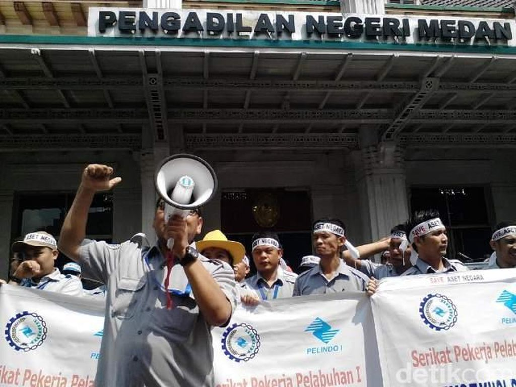 Ratusan Pegawai Pelindo I Demo Protes Putusan PN Medan Soal Lahan