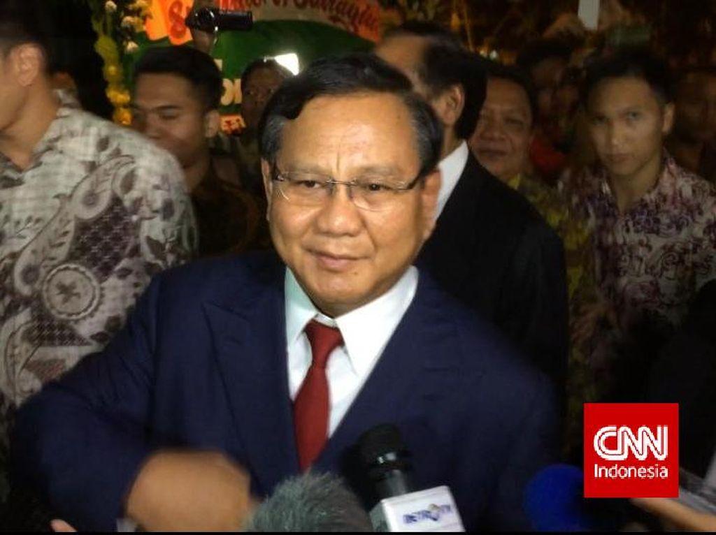 Soal Reshuffle Kabinet, Prabowo: Belum Ada Permintaan ke KMP