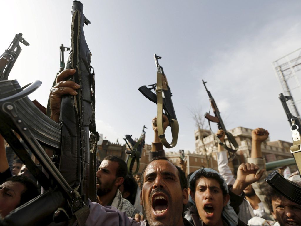 Serangan Pemberontak Houthi Tewaskan 20 Warga Sipil Yaman