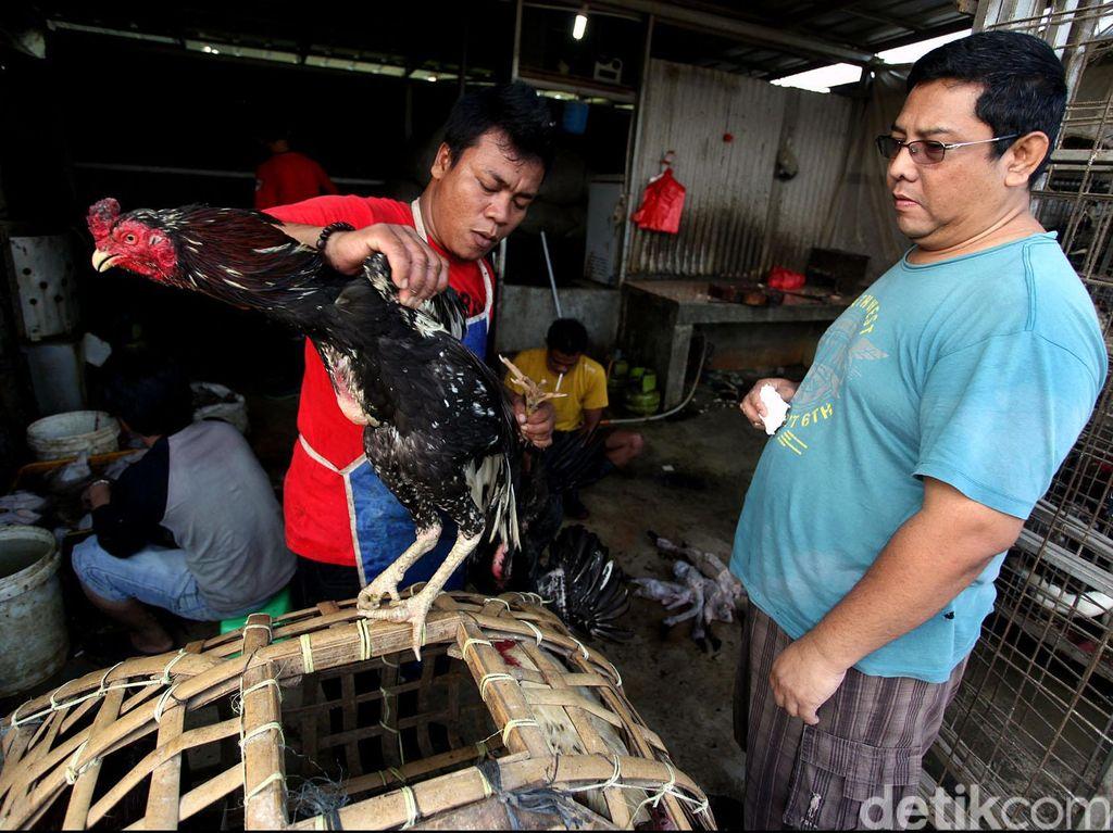 Puluhan Kg Daging Bermasalah di Pasar Solo Dimusnahkan