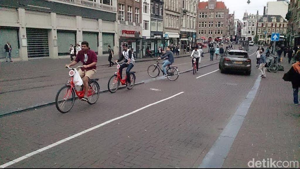 Tradisi Gowes Sepeda di Amsterdam yang Mendarah Daging, Sehat dan Irit