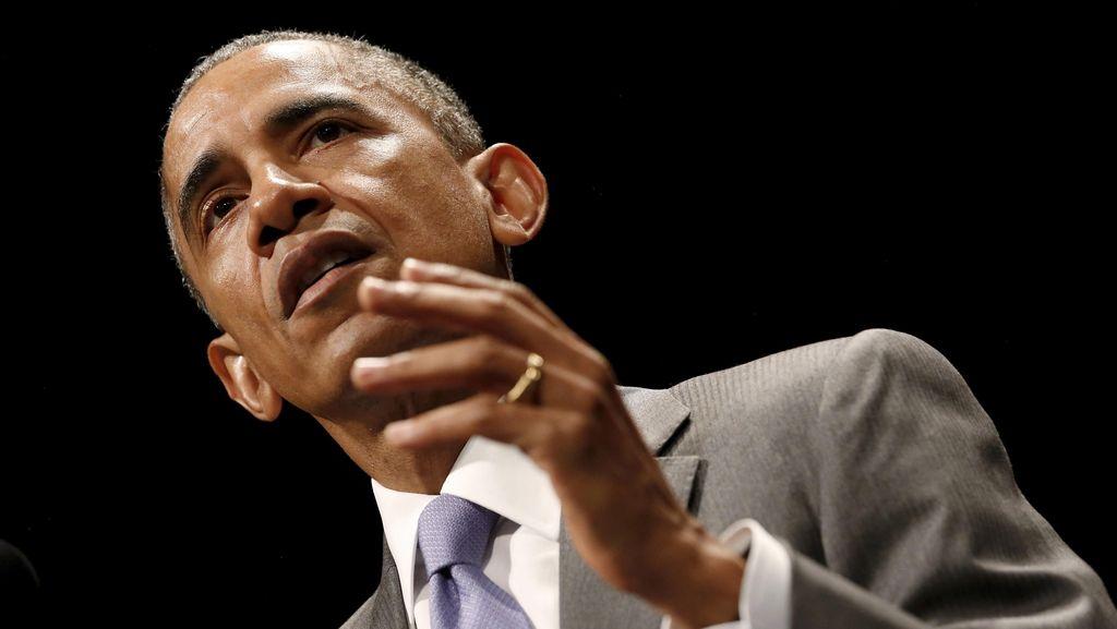 Diteriaki Saat Pidato di Gedung Putih, Obama Kesal