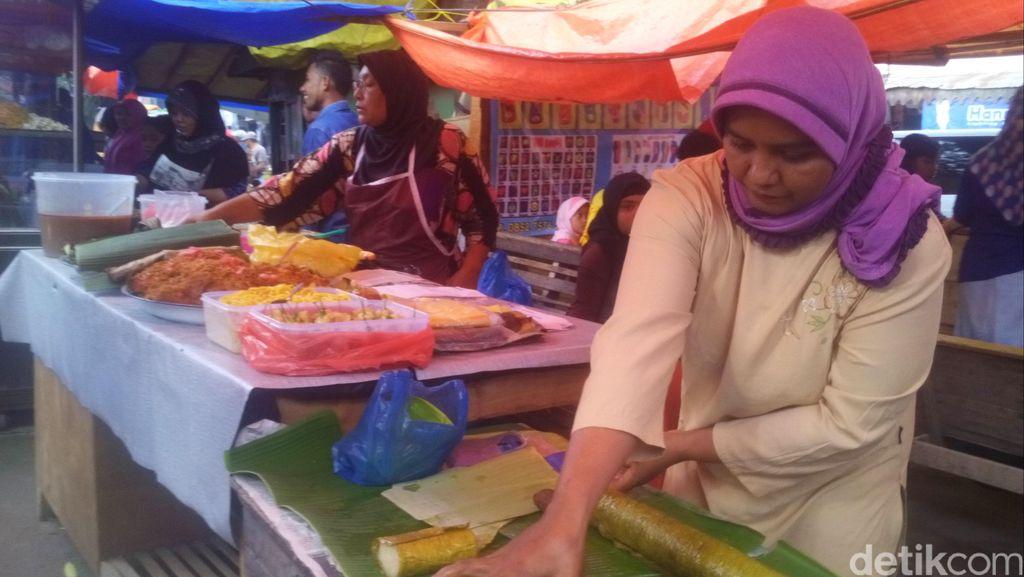 Melihat Suasana Pasar Kaget Tempat Berburu Jajanan Berbuka di Pidie