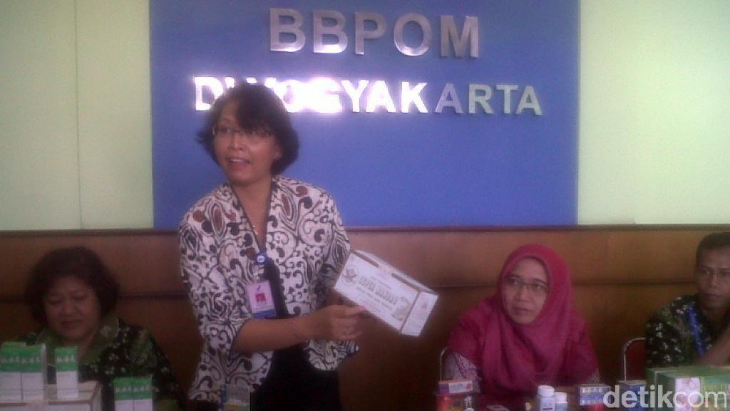 Ribuan Obat Seks dan Tradisional Tanpa Izin Disita BBPOM Yogyakarta