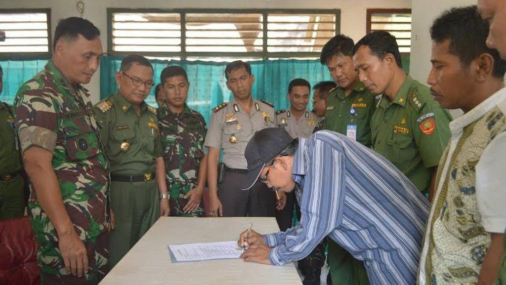 Ricuh di Perbatasan Mesuji-Tuba Berlanjut, 1 Orang Bawa Senpi Ditangkap