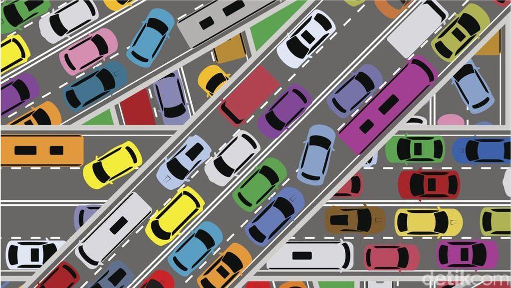 Tol Dalam Kota Padat, Slipi ke Cawang Kecepatan 30 Km/Jam