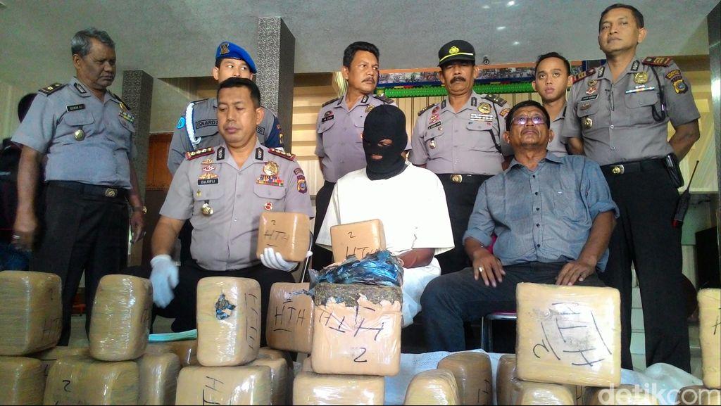 Ditangkap Polisi, Pembawa Ganja 216 Kg di Banda Aceh Mengaku Dibayar Rp 2 Juta
