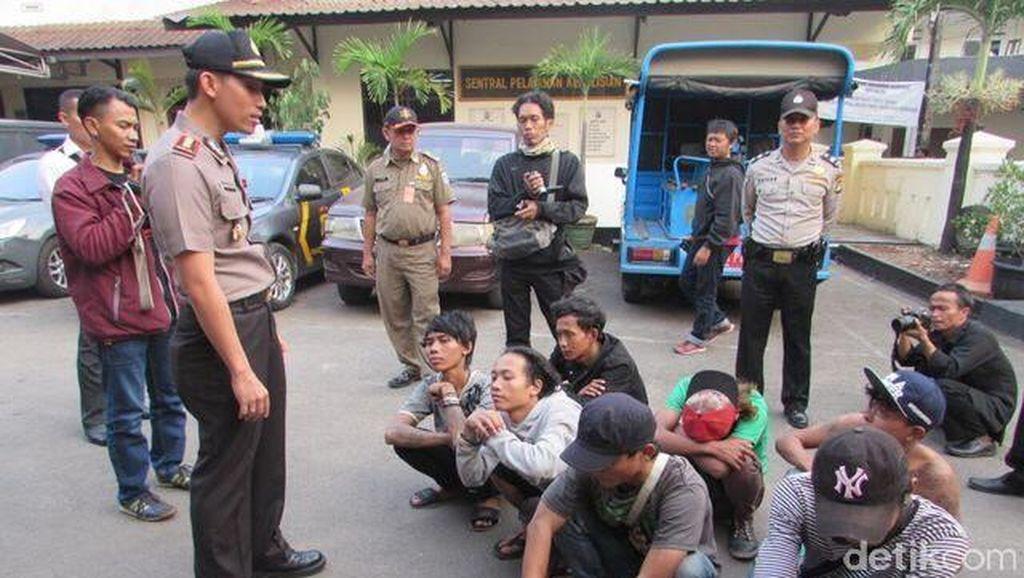 Operasi Preman, 7 Orang yang Bikin Resah Warga Diamankan Polsek Setiabudi