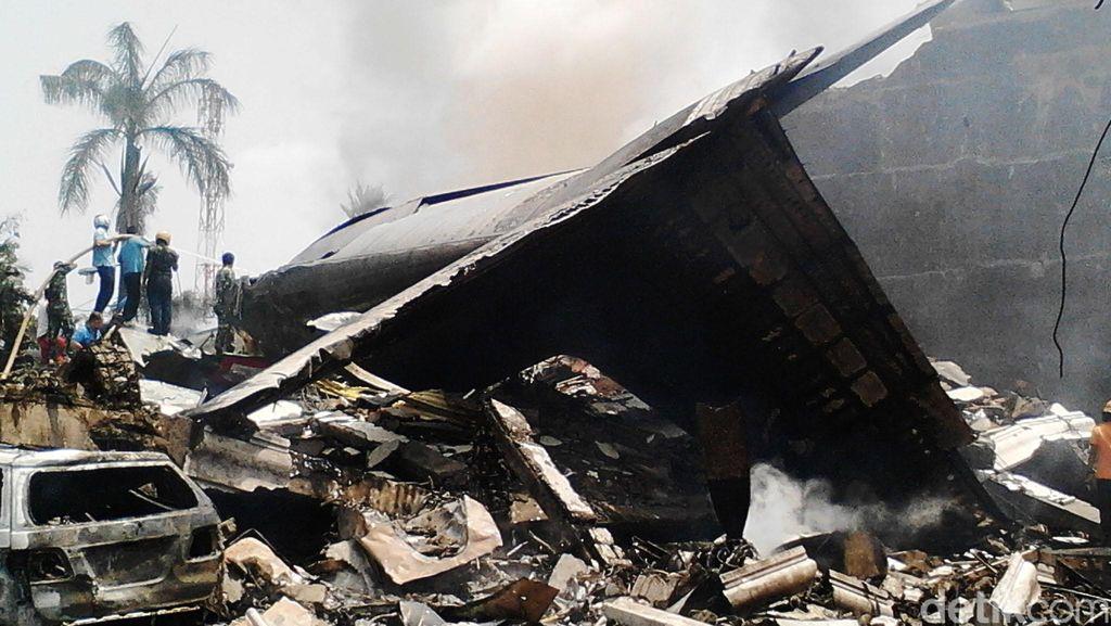 Rumah Kapten Sandy Pilot Hercules yang Jatuh di Medan Dijaga Perwira