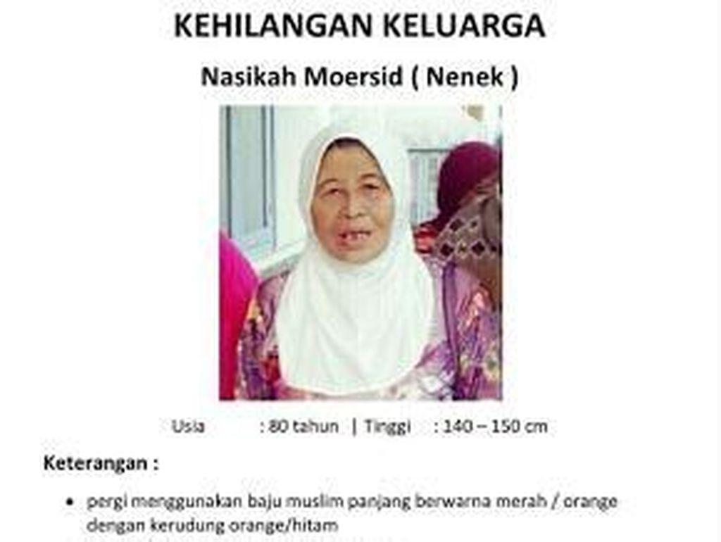 Tolong! Nenek Nasikah Hilang Sejak 3 Hari Lalu