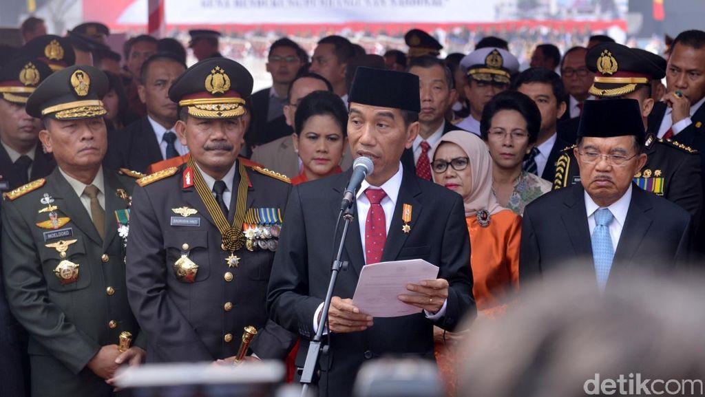 Pesan Jokowi di HUT Polri: Berantas Markus Hingga Beri Layanan pada Masyarakat