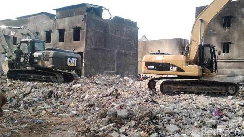 Puing Pesawat dan Bangunan di Lokasi Relatif Bersih, Begini Kondisinya