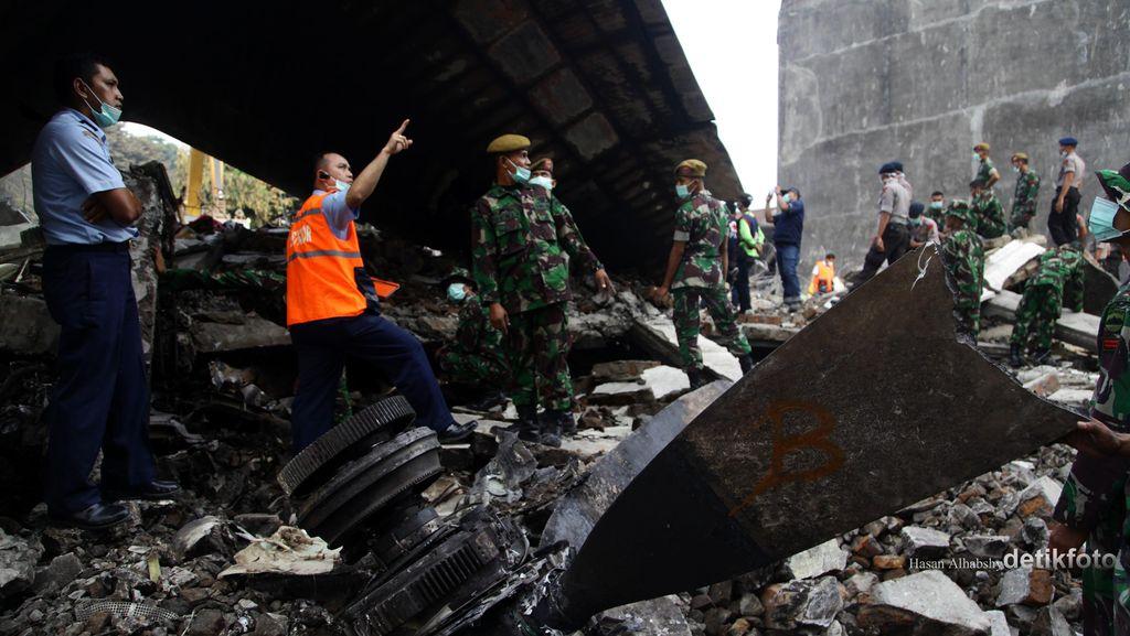 Hercules Jatuh, KSAU: Evakuasi Tinggal Puing Pesawat, Semoga Tak Ada Jenazah