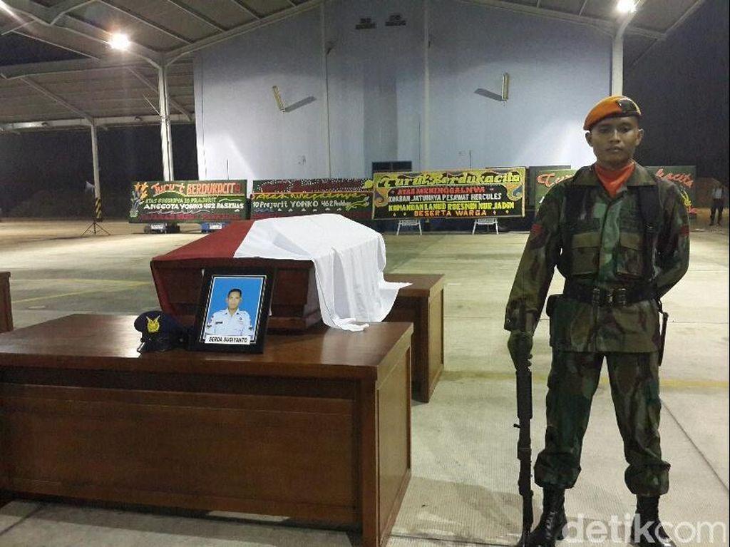 3 Jenazah Anggota Paskhas Tiba di Lanud Roesmin Nurjadin Pekanbaru