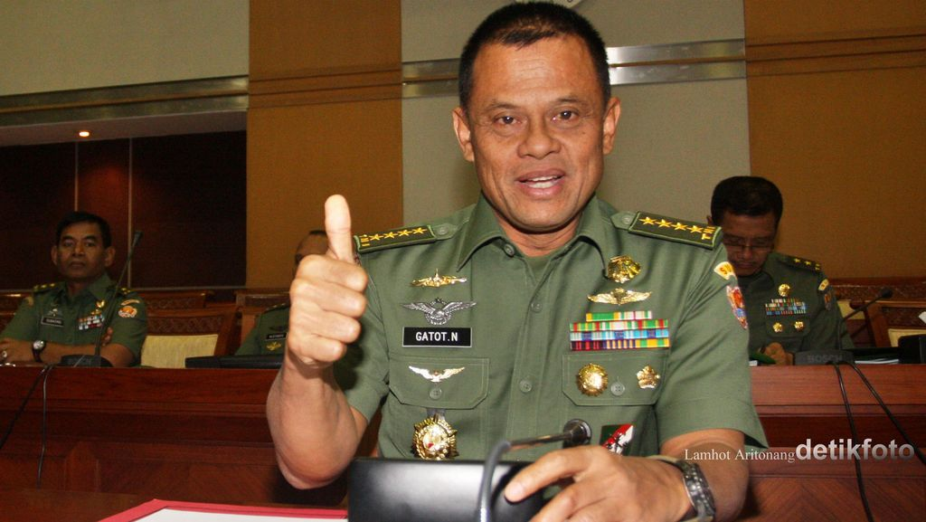 Disetujui Jadi Panglima TNI, Jenderal Gatot: Syukur Alhamdulillah