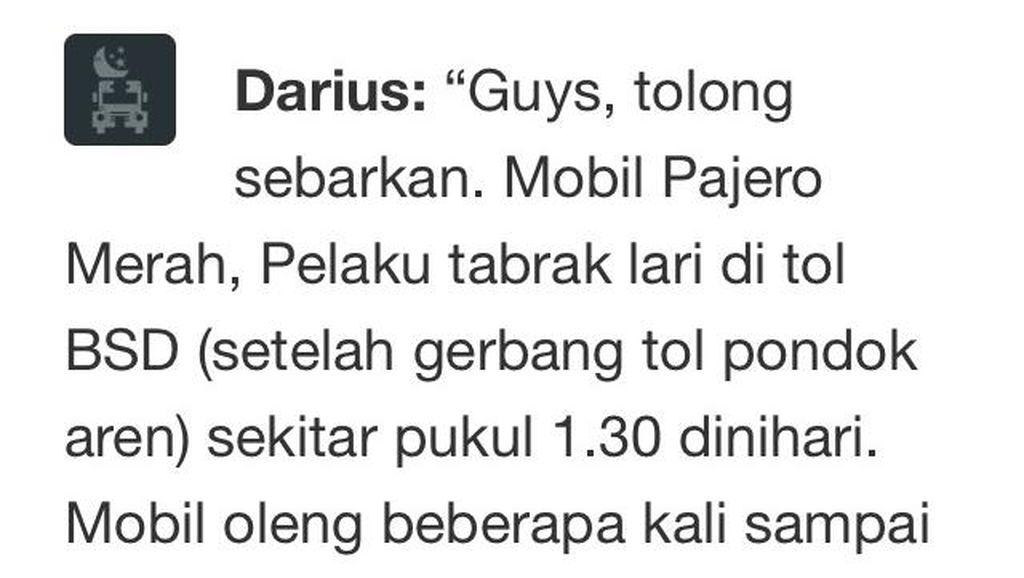 Presenter Darius Sempat Kejar Pajero yang Diduga Terlibat Tabrak Lari