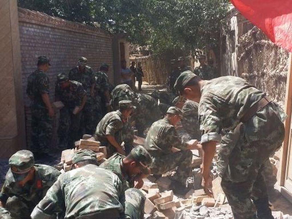 Gempa 6,4 SR di Xinjiang China, Ribuan Rumah Rusak Berat