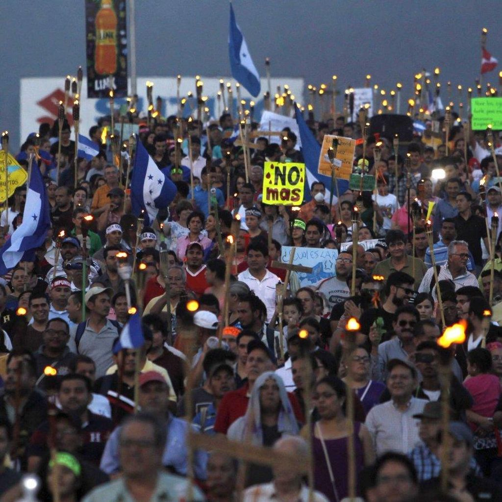 60 Ribu Demonstran Tuntut Presiden Honduras Mundur Atas Korupsi
