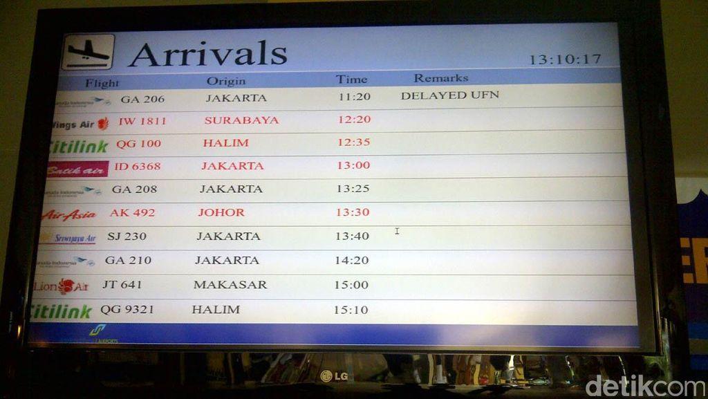 Garuda Delay, Tak Ada Penumpukan Penumpang di Bandara Yogya