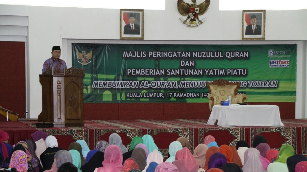 Peringatan Nuzulul Quran, KBRI Malaysia Santuni TKI Bermasalah