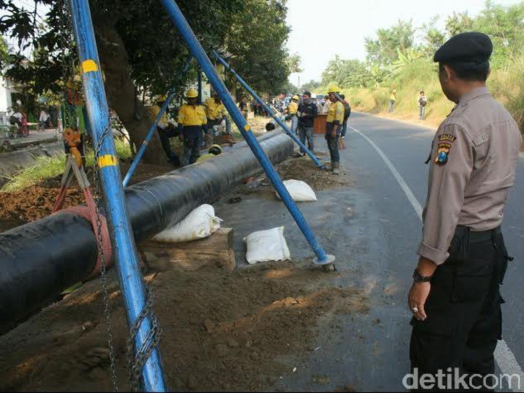 Pipa PGN Diprediksi Ganggu Jalur Mudik Mojokerto-Jombang-Lamongan