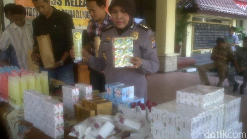 Dipasarkan Online, 6.059 Kemasan Kosmetik Ilegal di Yogya Disita Polisi