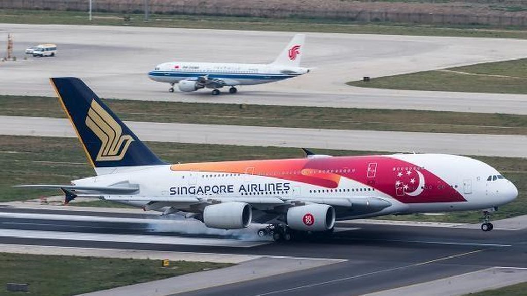 Ini Penampakan Pesawat Singapore Airlines yang Diancam Bom oleh Ilham