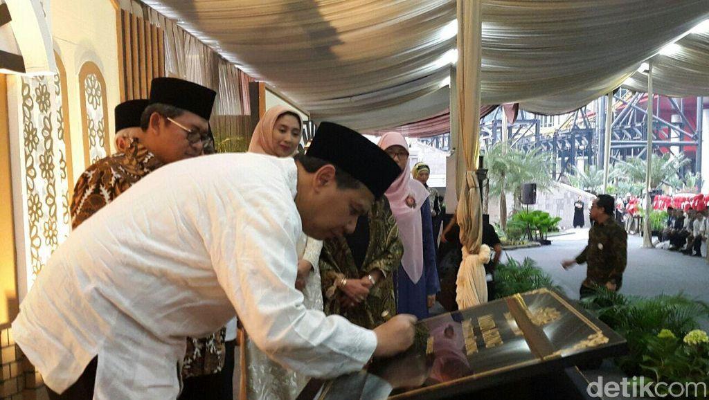 Lantunan Asmaul Husna Tandai Peresmian Masjid Agung Trans Studio Bandung