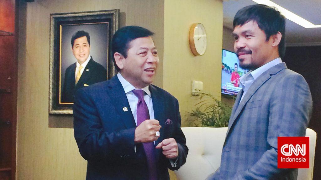 Pujian Novanto ke Pacman Soal Pertandingan Lawan Mayweather
