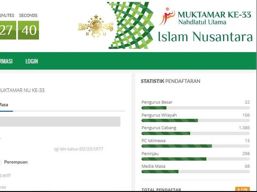 Pertama Kali Gunakan Registrasi Online, Pendaftar Muktamar Baru 30 Persen