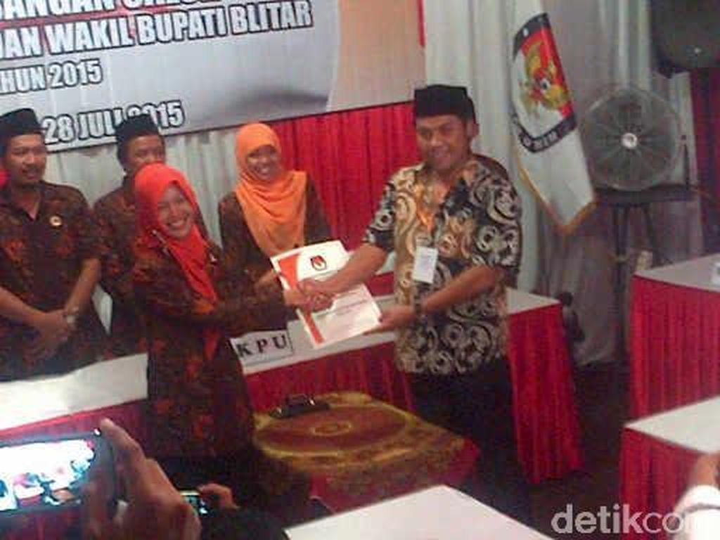 Peminat Bupati dan Wakil Bupati Blitar Juga Cuma Satu Pasangan