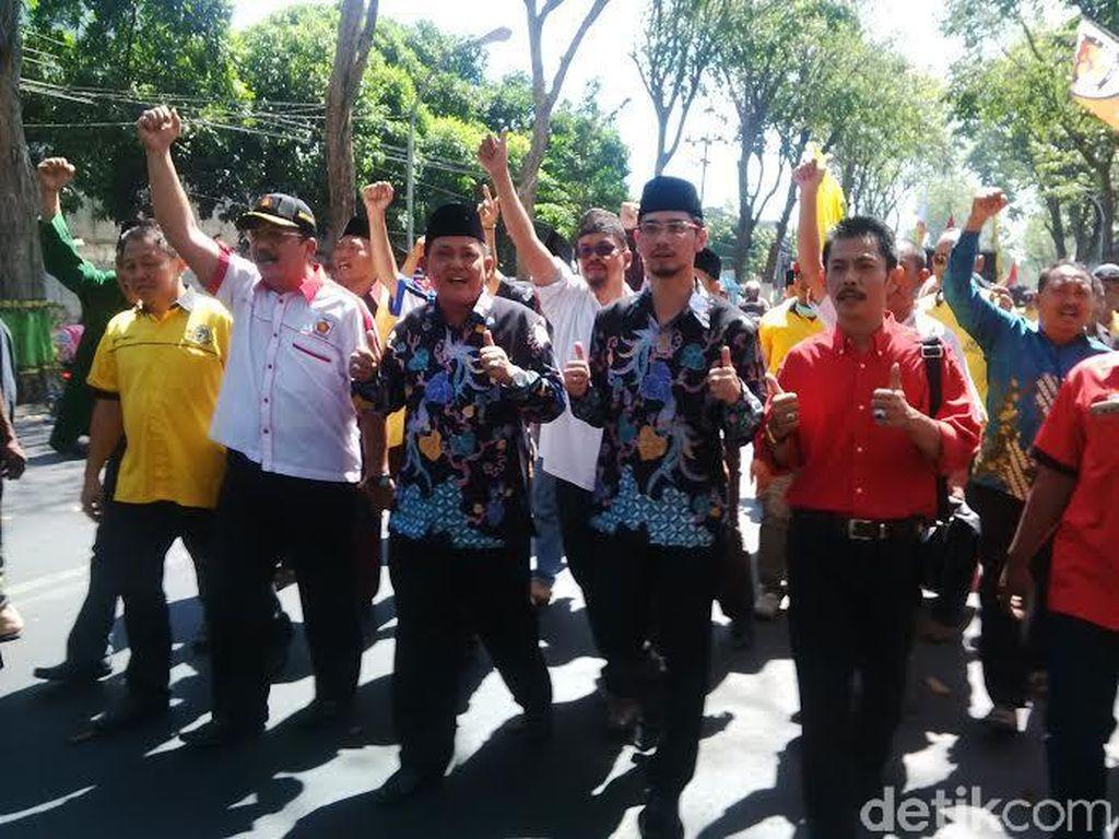 Pilkada Pasuruan, Diusung Koalisi Hebat, Setiyono-Teno Daftar ke KPU