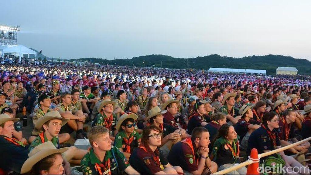 Puluhan Ribu Peserta Jambore Pramuka Padati Kirara-Hama, Jepang