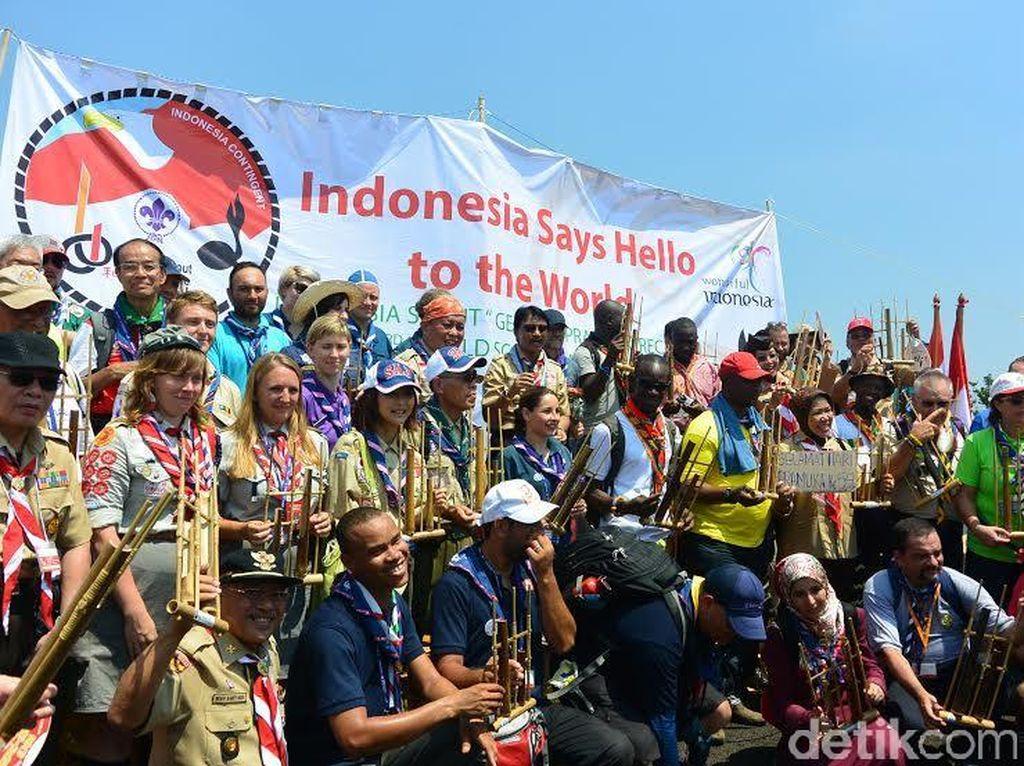 Angklung Jadi Primadona di Jambore Pramuka Internasional