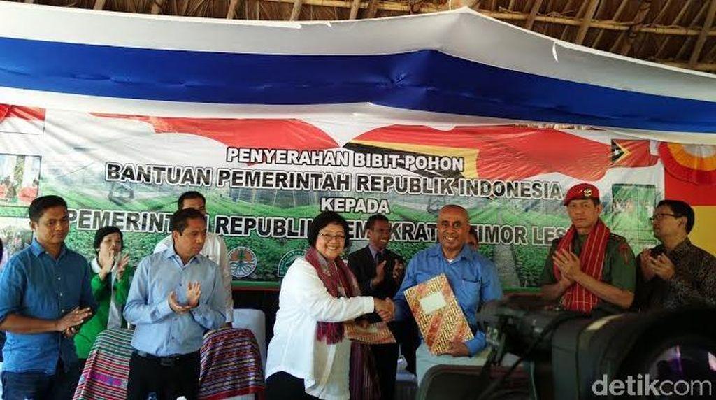 Indonesia Serahkan Bantuan 50 Ribu Bibit Pohon ke Timor Leste