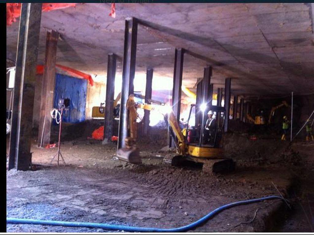 Road Decking MRT Dipasang, Jalur Sekitar Bundaran HI akan Dipersempit