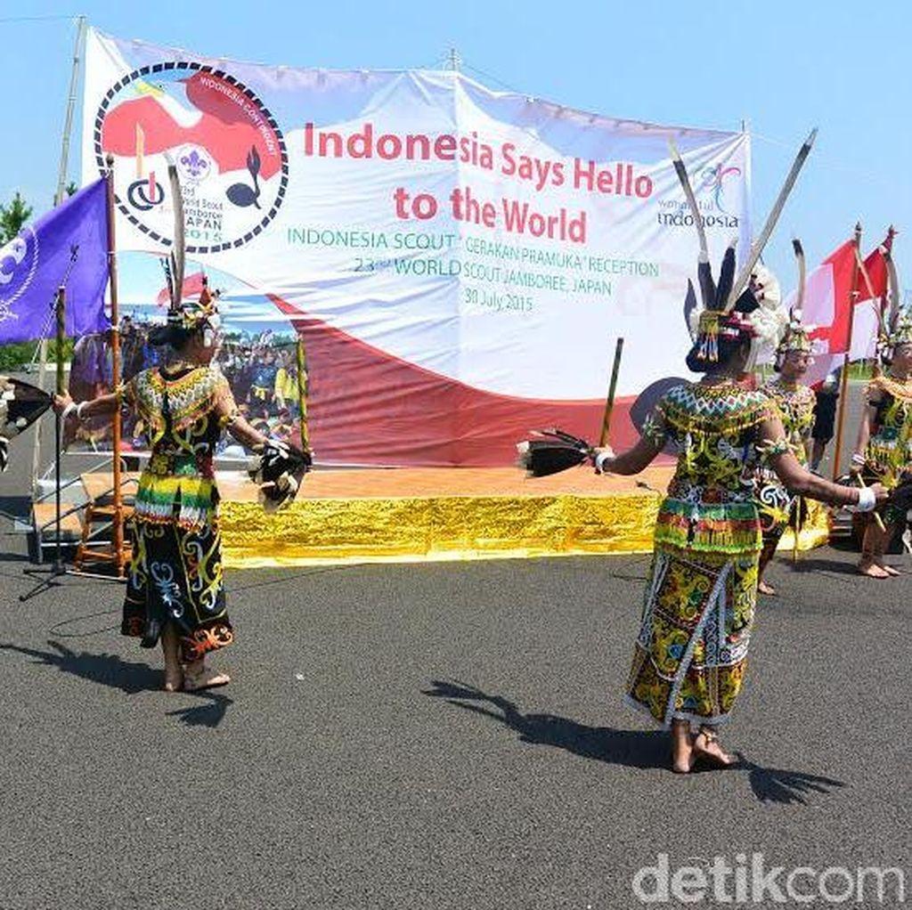 Perjuangan Pramuka Indonesia Tampilkan Budaya di Atas Suhu 42 Celcius