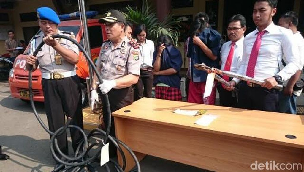 Polsek Tanjung Priok Ringkus Sepasang Kekasih Pencuri Kabel Gardu Listrik