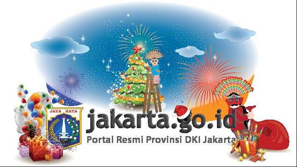 Situs Pemprov Jakarta Dihack, Gambarnya Ondel-ondel Sedang Natalan