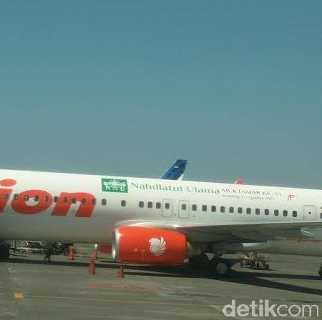 Ini Penampakan Pesawat Lion Air yang Ditempeli Logo Muktamar NU