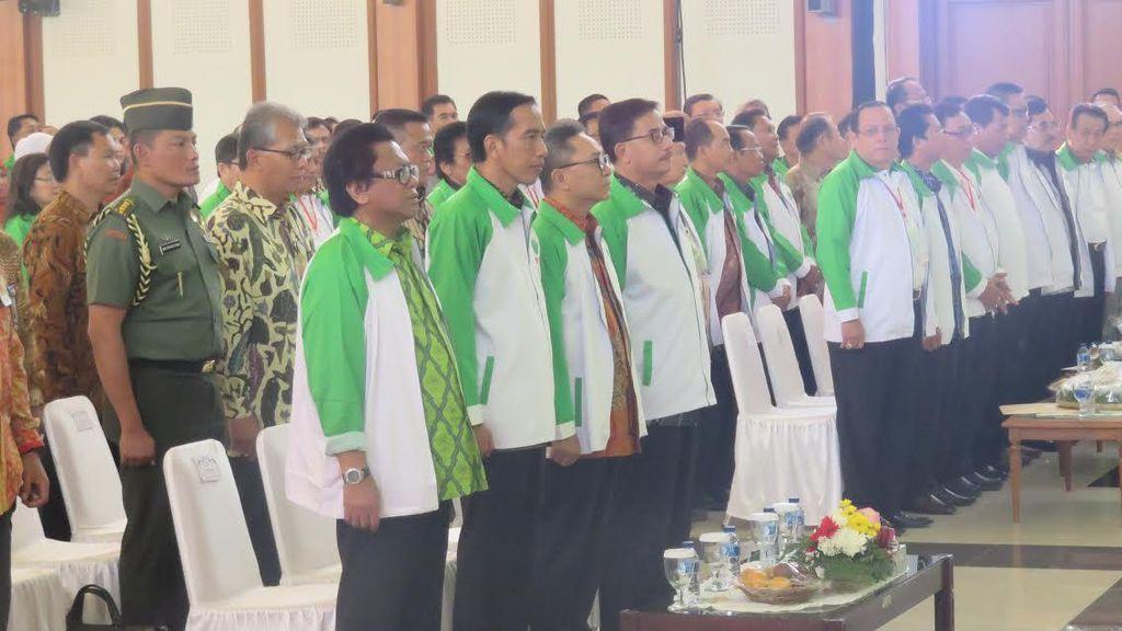 Presiden Jokowi Hadiri Munas HKTI Pimpinan Oesman Sapta