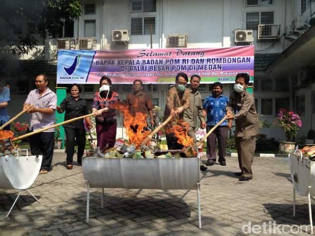 Balai BPOM Musnahkan Obat dan Makanan Ilegal Senilai Rp 2,75 M di Medan