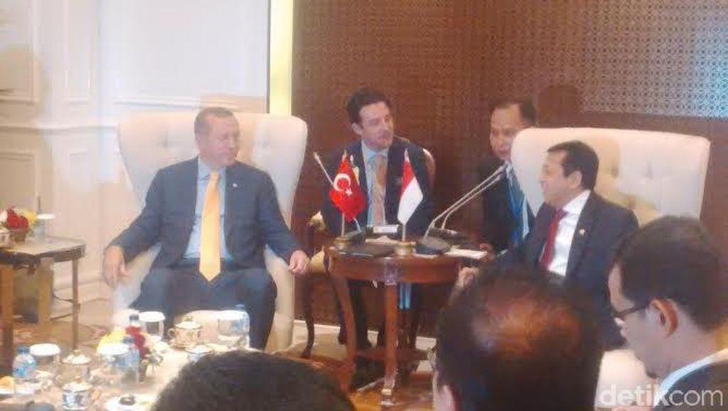 Sambangi DPR, Presiden Turki Disambut Setya Novanto dan Fadli Zon