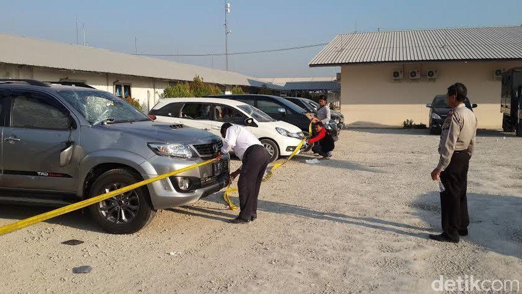 Polisi Olah TKP Pasca Pegawai di Blok Cepu Mengamuk