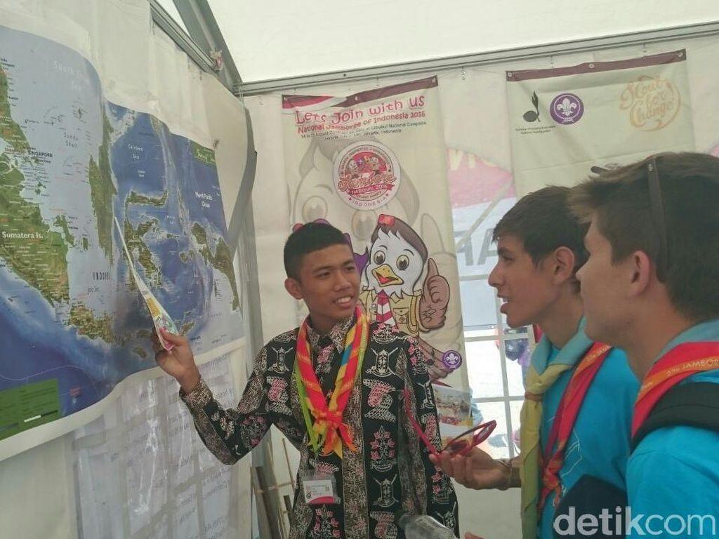 Peserta Jambore Dunia Takjub Lihat Peta Indonesia
