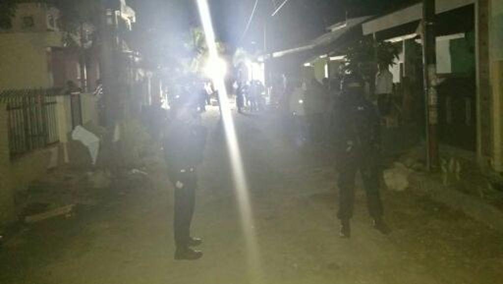 Tim Jihandak Gegana Periksa Lokasi Ledakan di Makassar